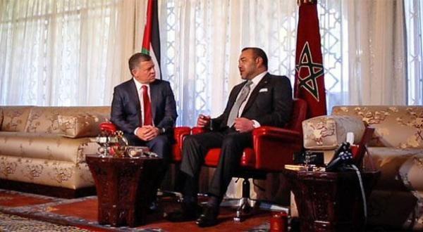 الملك محمد السادس والعاهل الأردني