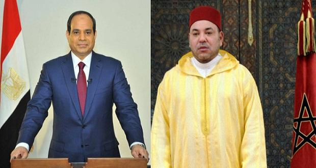 الملك محمد السادس والسيسي