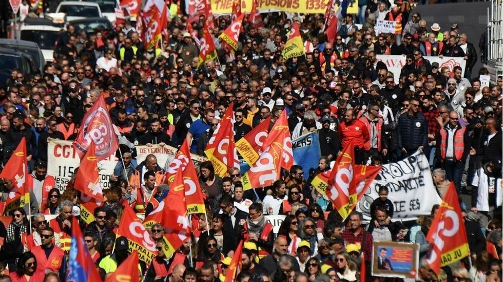 إضراب فرنسا