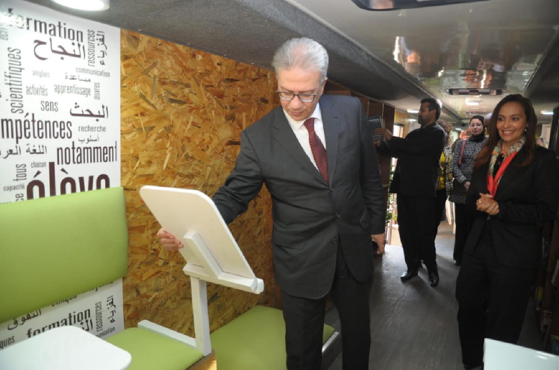 مراكش..حافلة مزودة بحواسيب متصلة بالانترنت وكتب رهن إشارة الطلاب