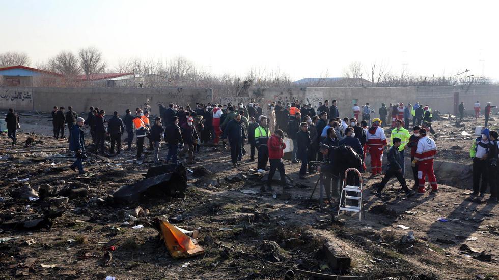 تحطم طائرة اوكرانيا ايران