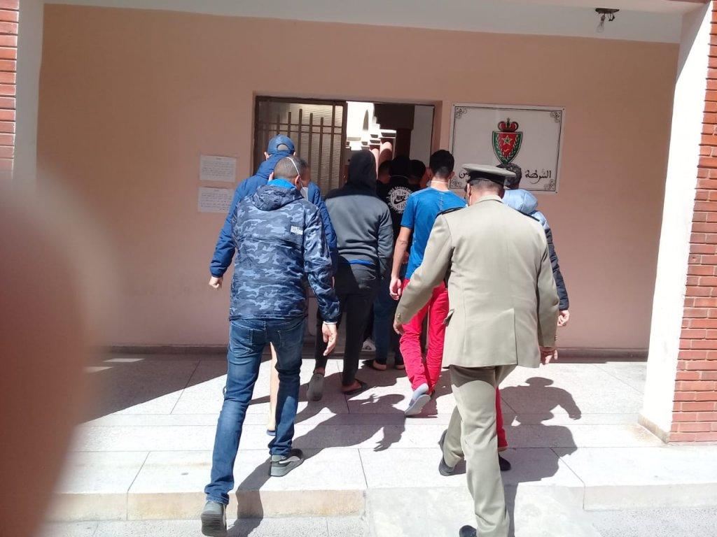 اعتقال شباب بمراكش