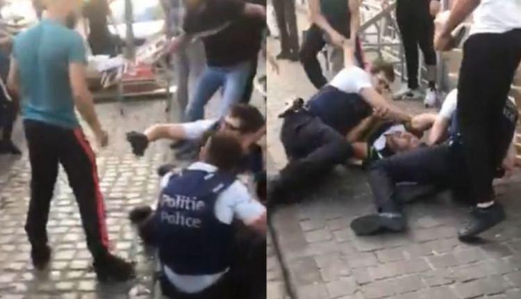 """مغاربة """"يسلخون"""" عناصر شرطة في بلجيكا"""