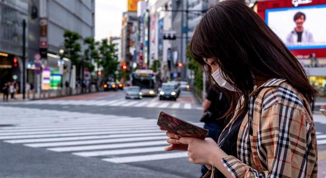 حظر استخدام الهاتف أثناء المشي