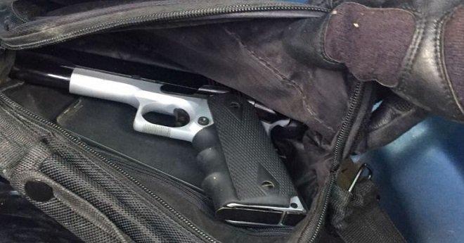 العثور على مسدس