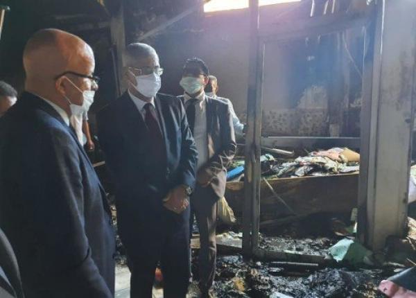 محكمة سلا تتعرض لحريق مهول مخلفا عدة خسائر مادية