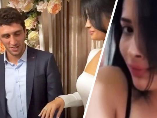 مصارع روسي يطرد عروسه