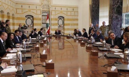 استقالة الحكومة اللبنانية