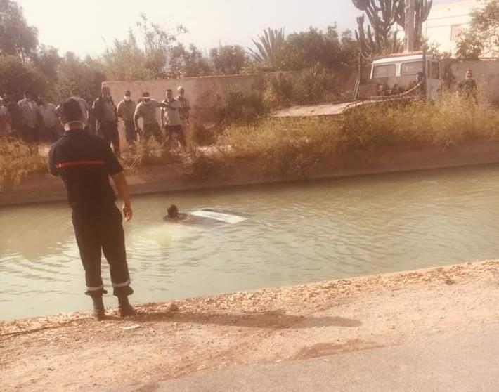 مأساة ببركان...حادثة سير أليمة تودي بحياة زوجين في قناة الري ضواحي اكليم
