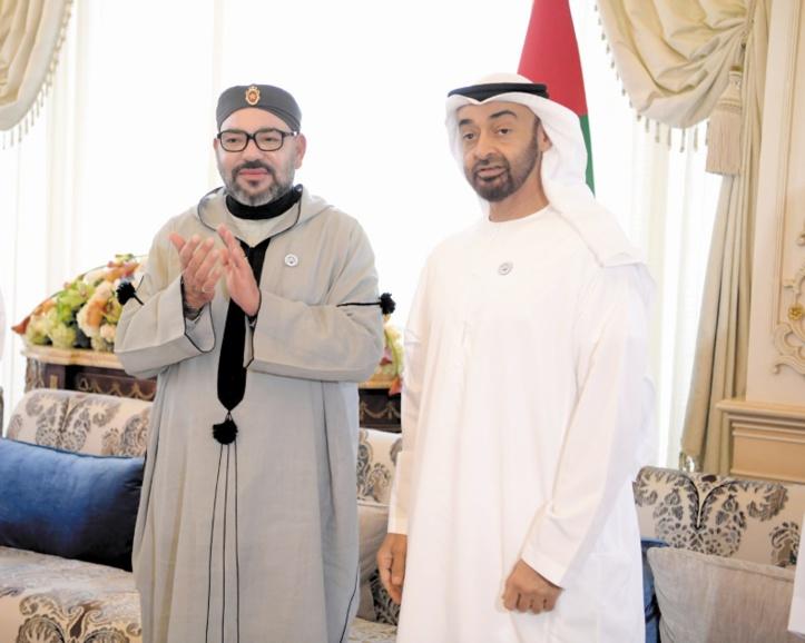 جلالة الملك يجري اتصالا هاتفيا مع محمد بن زايد والاخير يخبر جلالته بقرار افتتاح قنصلية الامارات بالعيون