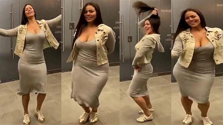 """برازيلية تنافس المصريين على الرقص وتثير ضجة.. والهيئات المختصة تعلق! """"فيديو"""""""