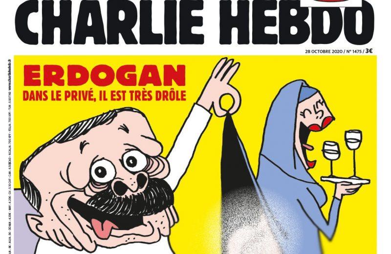 شارلي إيبدو تنشر كاريكاتورا محرجًا لأردوغان
