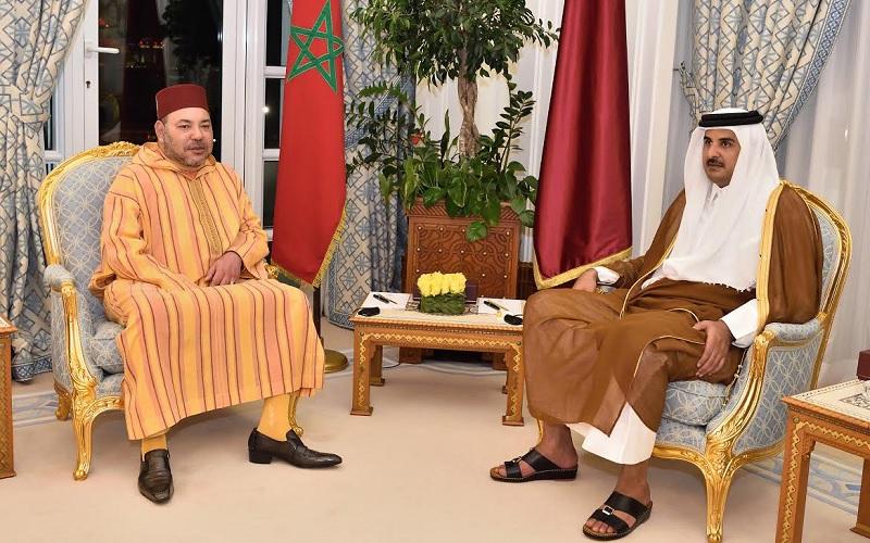 أمير قطر يثمن قرارات الملك محمد السادس بشأن الصحراء وجلالته يشيد بانتخابات الشورى القطري