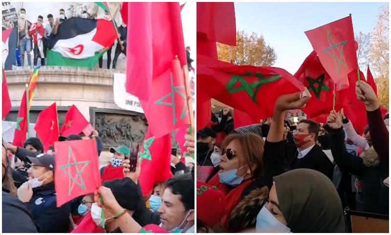 مرتزقة البوليساريو يحاولون اقتحام مسيرة للجالية المغربية بفرنسا ومنع المتظاهرين من حمل العلم الوطني
