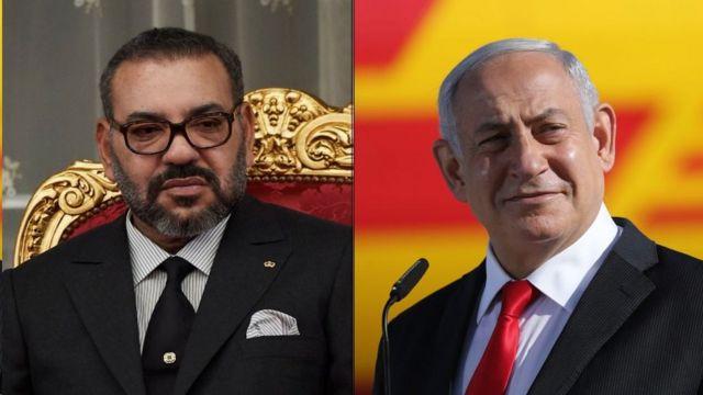 الملك محمد السادس يجري مباحثات هاتفية مع رئيس وزراء دولة إسرائيل، بنيامين نتنياهو