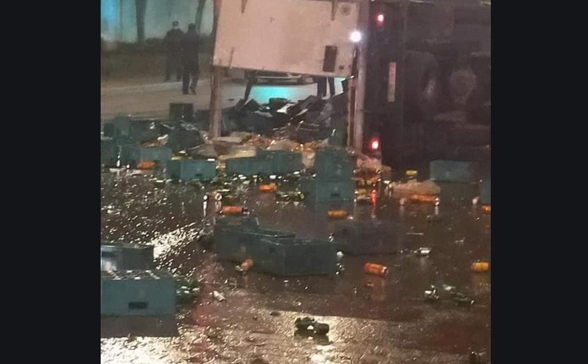 """الرباط..توقيف سائق شاحنة """"الخمور"""" المرتكب لحادثة السير بحي النهضة"""