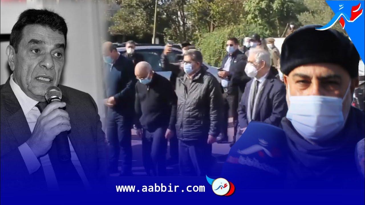 لحظة تشييع الراحل محمد الوفا وحضور رئيس الحكومة السابق بنكيران