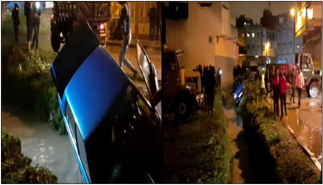 انجراف سيارة طنجة