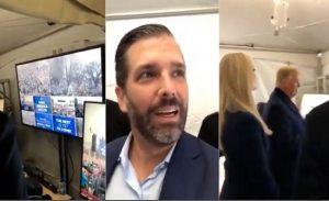 فيديو مثير لترامب وعائلته تزامنا مع اقتحام مبنى الكونجريس