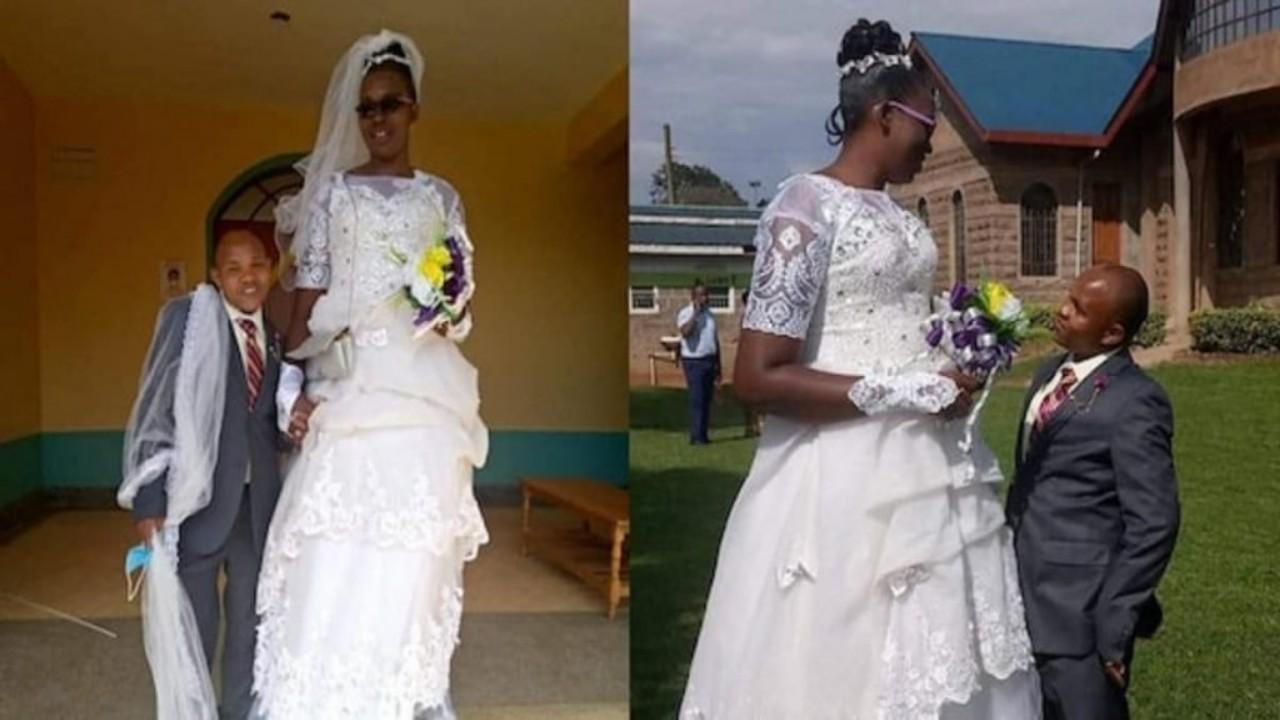 رجل يتزوج امرأة ضعفه في الطول رغم معارضة أهله