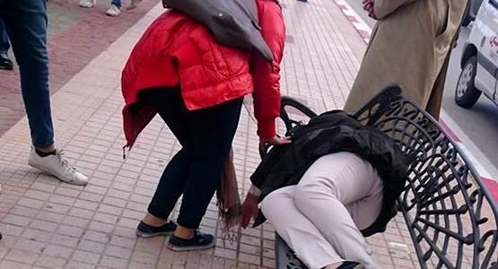 الناظور.. فتاة عشرينية تُقدم على كارثة في الشارع العام بسبب ما فعله زوجها معها