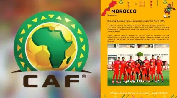 الاتحاد الافريقي والمنتخب المغربي, خريطة المغرب