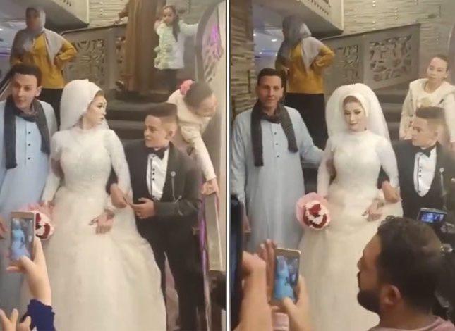 بالفيديو.. حفل زفاف أصغر عريس يثير الجدل!