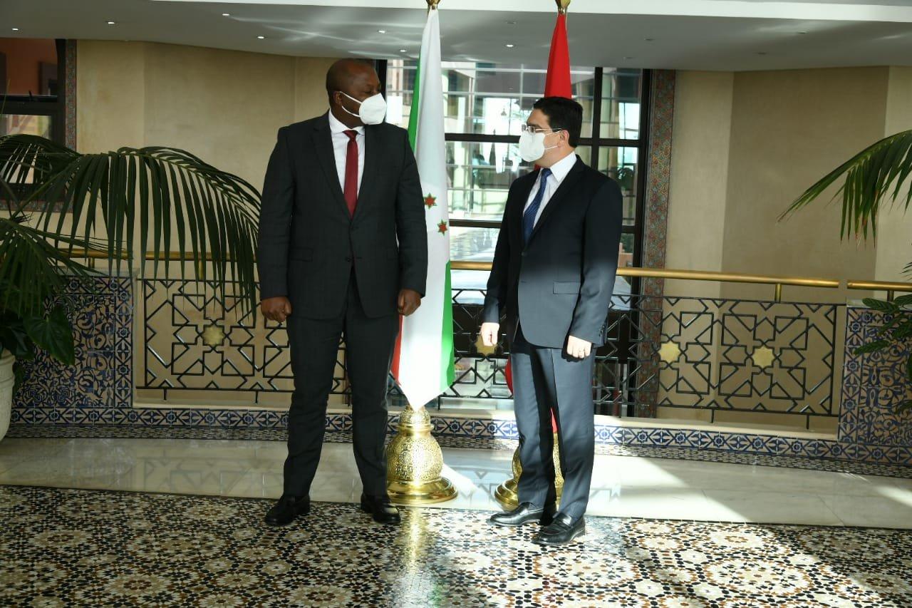 بوريطة يستقبل نظيره البوروندي حاملا رسالة من رئيس جمهورية بوروندي إلى الملك محمد السادس