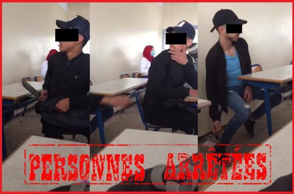 توقيف 3 تلاميذ ظهروا في شريط فيديو داخل قسم وهم مدججين بالأسلحة البيضاء..!!
