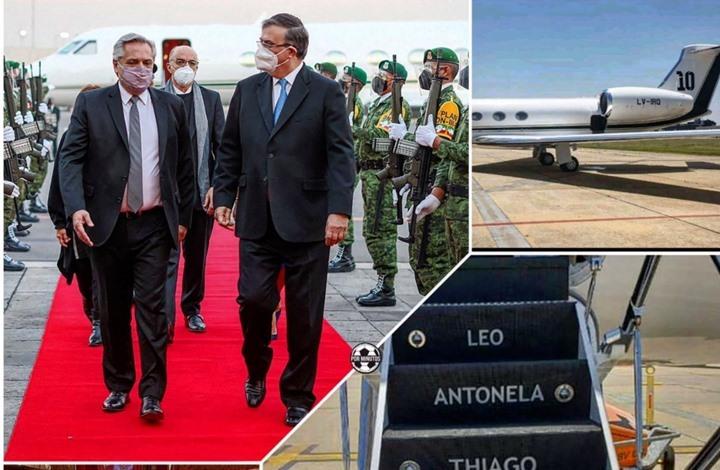 رئيس الأرجنتين يستأجر طائرة ميسي لأربعة أيام بملغ ضخم