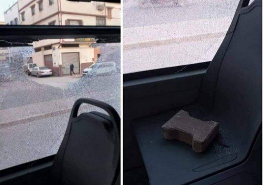 """السيبة..رشق بالحجارة وتخريب حافلة جديدة تابعة لأسطول النقل الحضري """"ألزا"""" ساعات بعد انطلاقتها بالبيضاء"""