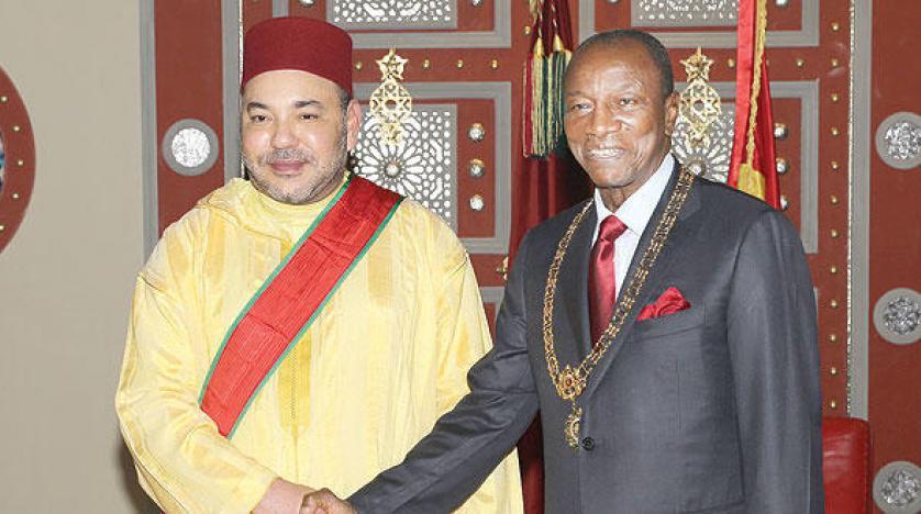 بوريطة يستقبل نظيره الغيني حاملا رسالة من الرئيس ألفا كوندي إلى الملك محمد السادس