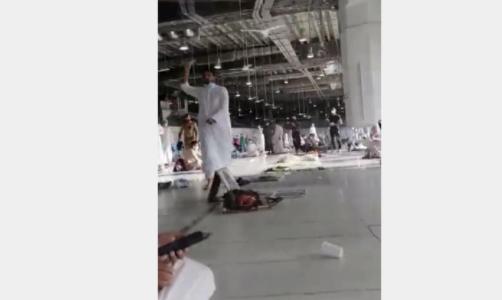 شخص يحمل سلاحا في الحرم المكي ردد عبارات إرهابية فيديو