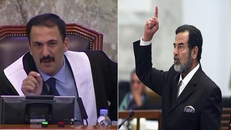 شاهد.. صورة كبيرة لصدام حسين في مجلس عزاء قاض حاكمه التي توفي مؤخرا