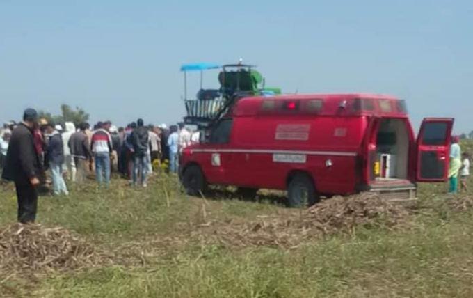 آلة حصاد تنهي حياة فلاح وترسل مرافقه إلى المستعجلات بخريبكة
