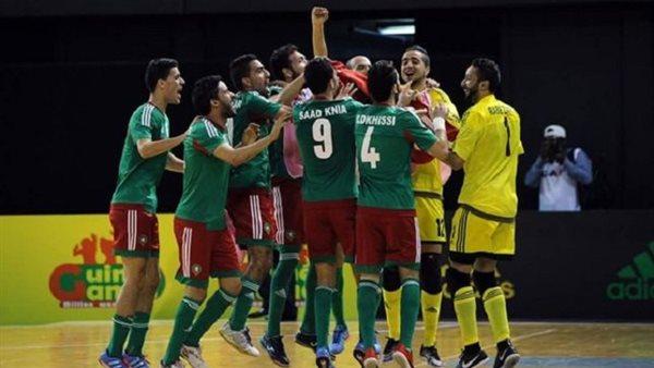 المغرب يهزم مصر برباعية ويتوج بطلا لكأس العرب للصالات