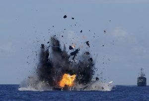 المقاومة تعلن استهداف بارجة إسرائيلية قبالة شواطئ غزة برشقة صاروخية
