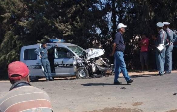 جرحى في حادث اصطدام سيارة للدرك الملكي بسيارة لطيار بالخطوط الملكية المغربية بالطريق السيار بالدار البيضاء