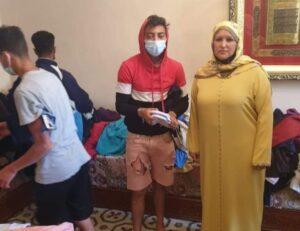 سيدة من ستبة المحتلة تفتح أبواب منزلها لإيواء 200 شاب مغربي مهاجر