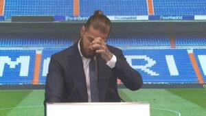 Lagrimas de Sergio Ramos