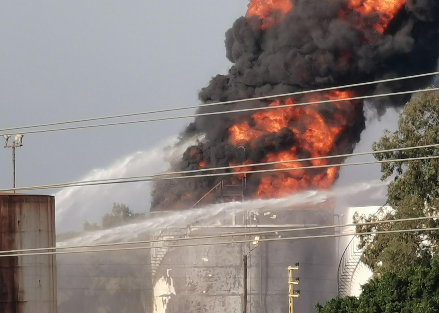 لبنان حريق